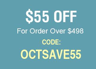 $55 For Order $498+
